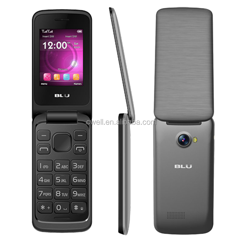 BLU DIVA Flex 2.4 T350 2.4 inch QVGA Display Screen Quad Band Dual SIM Bluetooth FM Radio 4 Colors Flip Phone