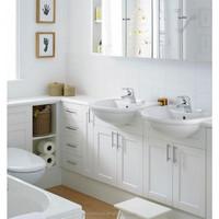 Prefab double sink 30 inch vanity with top contemporary bathrooms