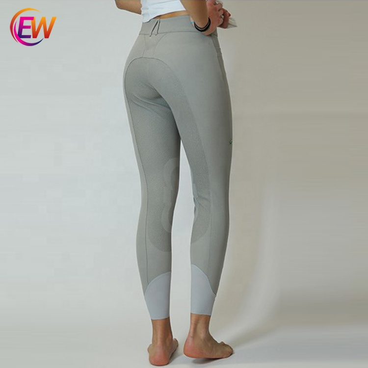 2019 Equestrian Clothing Wholesale Thick Silicone Full Seat Riding Jodhpur Tights, Customized color