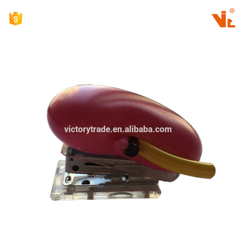 V-GF10-25 Promotional medical gifts competitive price plastic kidney shape mini manual type office paper stapler