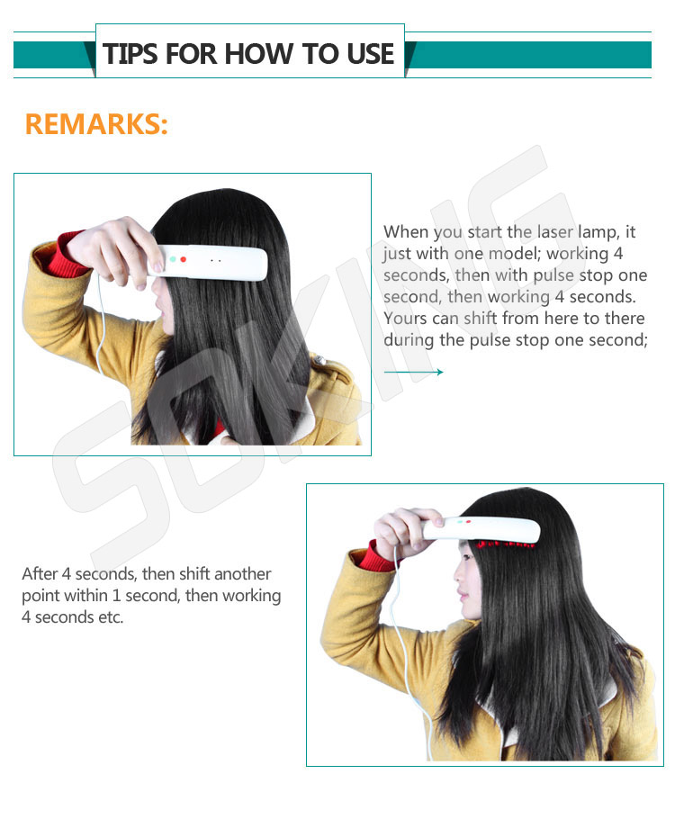 Hot sale Infrared ray laser hair growth head massager