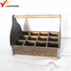 rustic table wooden farmhouse caddy with handle