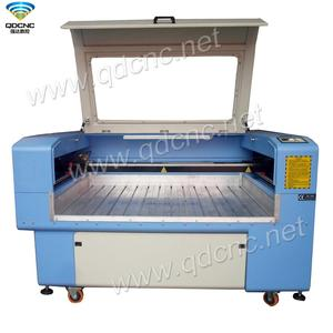 80W stone laser carving machine with lower flat worktable,DSP system control and software of QD-1390H