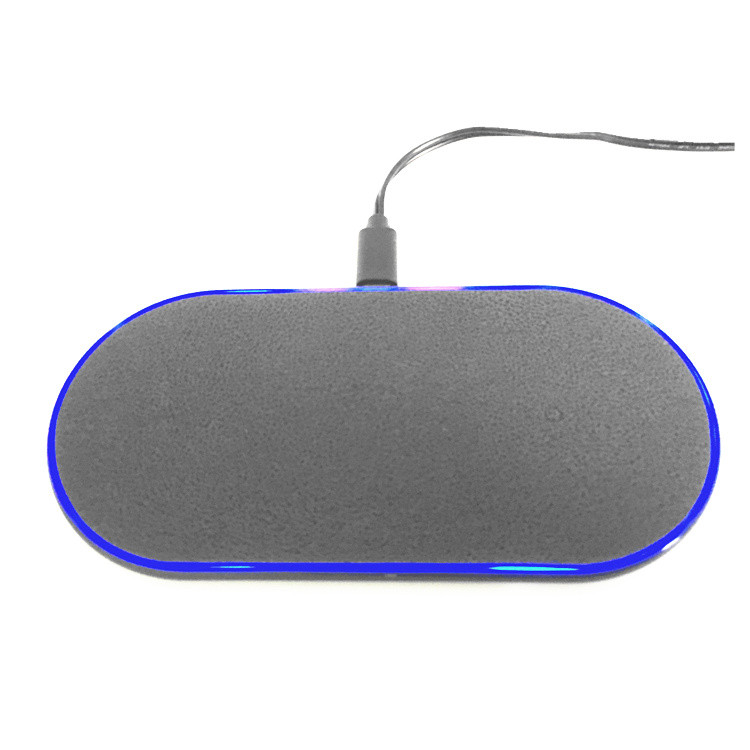 dual position fast wireless charger plate qi standard ultra thin wireless charger