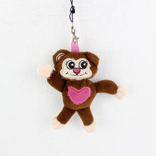 2016 Hot Sale High Quality China wholesale stuffed animal customized little monkey plush keychain toy cute face with smiling