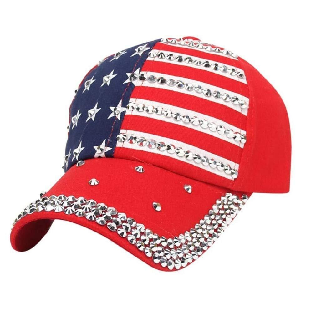 Get Quotations · Inverlee Unisex Women Men Flat Hat American Flag 4th Of  July Baseball Cap Snapback Hip Hop a710ae248c