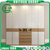 Customized Veneer Melamine Bedroom Furniture with Mirror 3 Doors Wood Wardrobe Closet Modern Wood