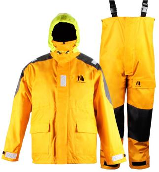 Coastal Sailing Jacket with Bib Pants Fishing Rain Suit Foul Weather Gear
