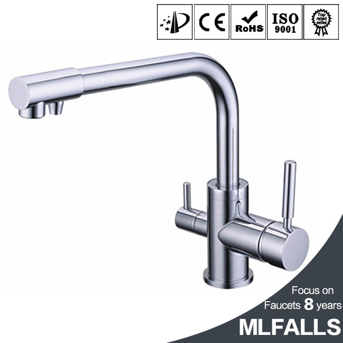 Modern Wall Mount Kitchen Faucet With Dual Handles Pure Water Faucet