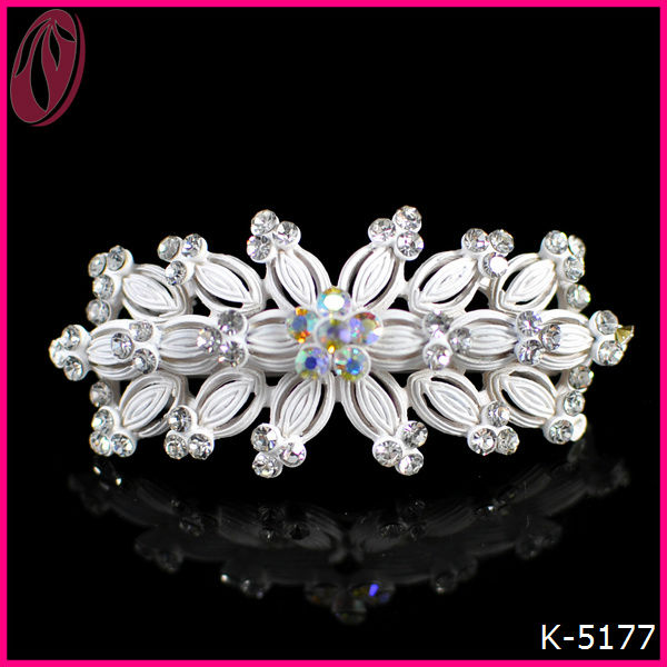 Latest Asian Crystal Clear Acrylic Hair Barrette Clips Ornaments