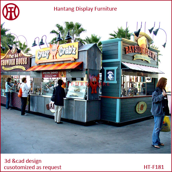 Hot Sale Street Mobile Outdoor Food Kiosk Design For Sale Low Price