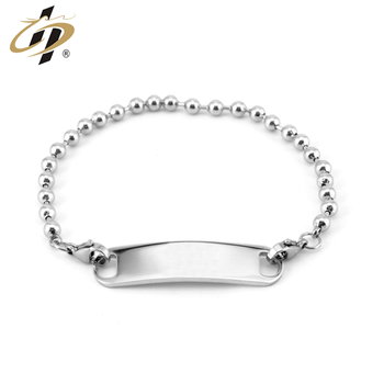 Shuanghua factory customize metal silver blank bracelet with own logo