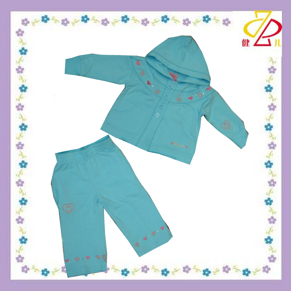 hotsale pure cotton wholesale kids clothing sets made in china