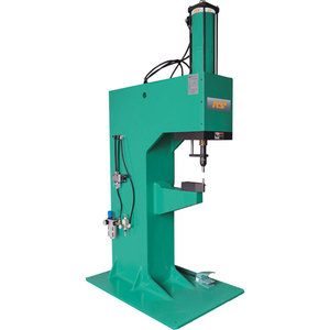 Pneumatic connecting machine, C-frame bench