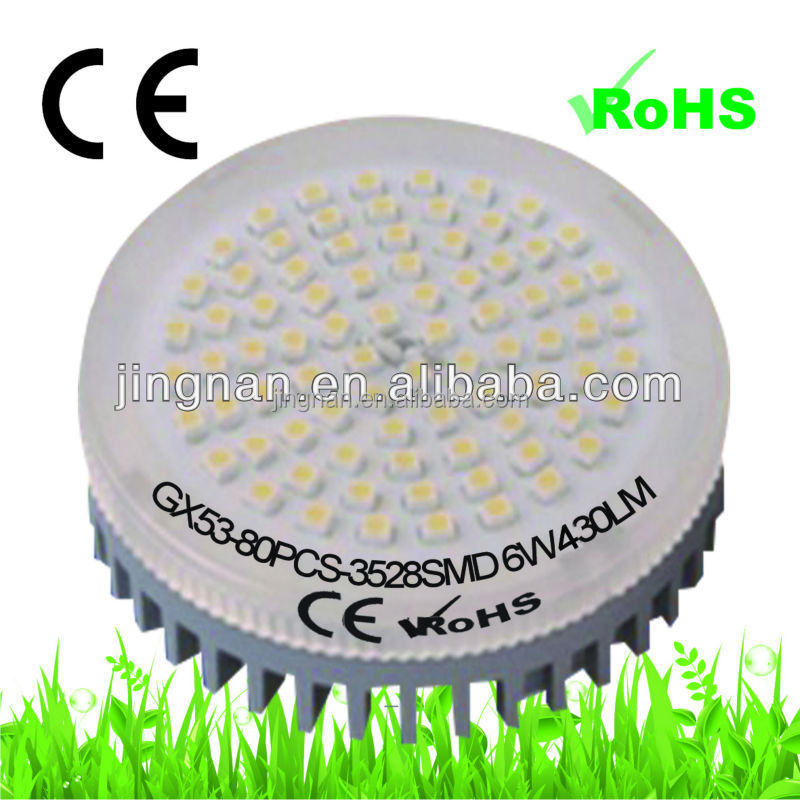 warm white 4.5w ra>85 3500k 330lm brightness 220v led spot downlight gx 53