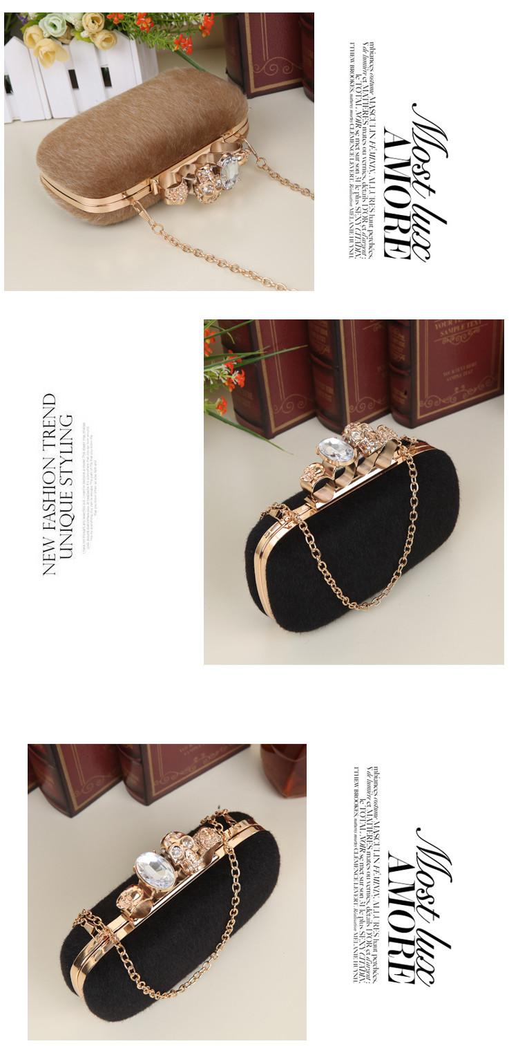 1c1bdd67cc UKQLING Winter Bag Gift Box Pack Ladies Luxury Crystal Clutches ...