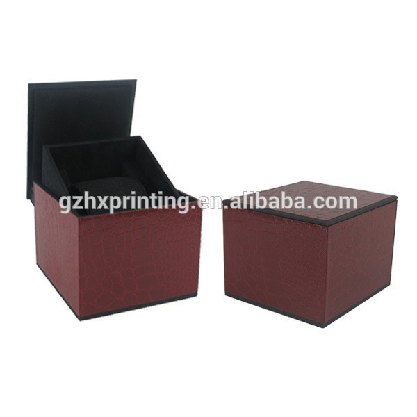 Custom Watch Gift Box Plastic Packing Boxes with Texture Fancy Paper
