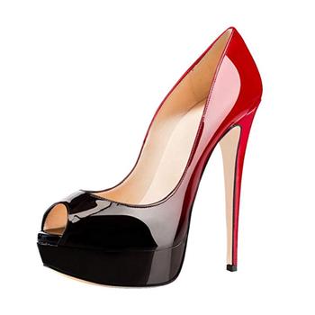 a54dcded2def Women 16cm Peep Toe Pumps Platform Thin Heel Stiletto Sandals Wedding High  Heels Slip On Dress
