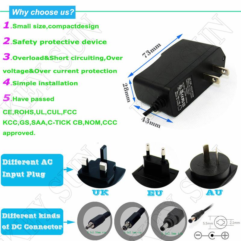 230v To 9v Transformer 500ma Ac/dc Power Adapter With Usa Standard ...