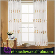 CHINA Popular Embroidery (Emb) Organza Voile Ready Made Curtains, Sheer Voile Embroidered Curtain Fabric