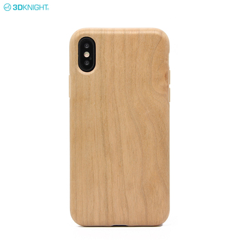 Eco-friendly Custom IMD Design Blank Wood Grain Style Phone Case For iPhone X XR XS MAX