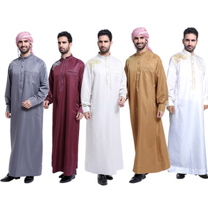 2018 new design 5 colors Dubai abaya for Middle East men