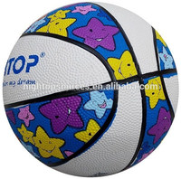 2016 hot sale customized rubber basketball for promotion and gift