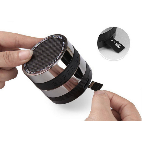 Swiss post Mini Portable Bluetooth Speakers Metal Wireless Smart Hands Free Speaker With FM Radio Support SD Card