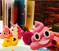 Emoji 2600mah Mobile Charger Emotion Power Bank External Battery Unicorn Funny Cry Tear Kiss Poop Portable Power
