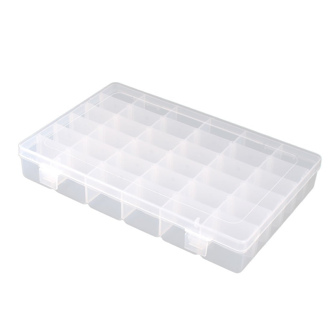 uxcell Plastic Household 36 Compartments Jewelry Earring Bead Container Storage Case Clear