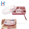 Eco-Friendly Pink 5-Compartment Plastic Kids Lunch Box