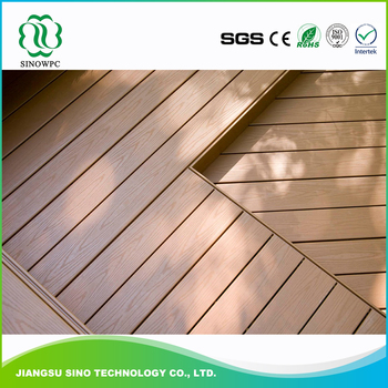 Sino cheap composite decking tiles material buy for Cheap decking material