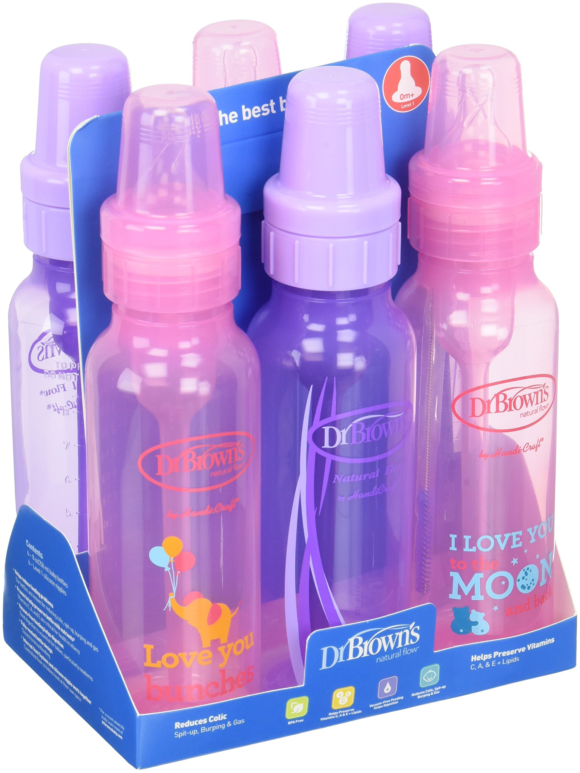 Wide Neck Options Bottle Soother Gift Set Blue Pink Cheap Dr Bottles Find Deals On Line At Alibabacom Get Quotations Browns Baby Girls 6 Pack 3 8 Oz Lavender And