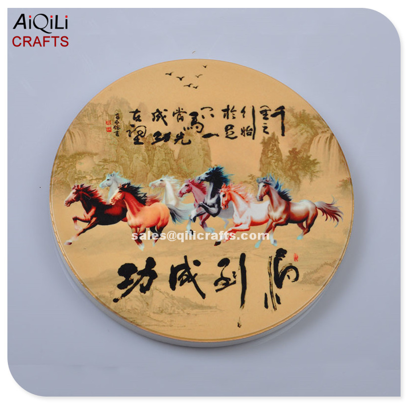 Success Immediately Horse Art Tile Absorbent Ceramic Coaster
