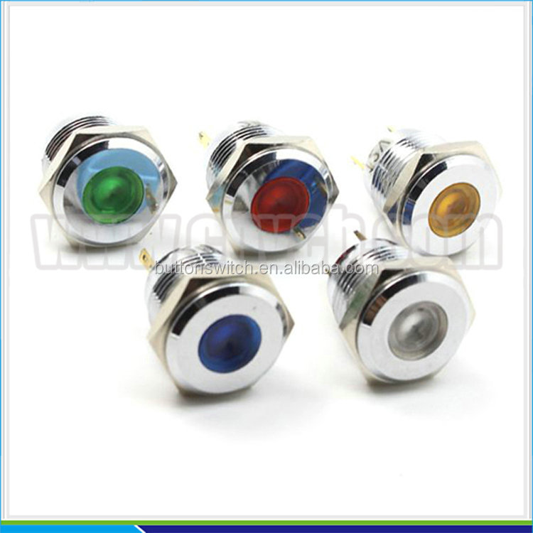 IN19 Rohs CE Waterproof 12V Led Indicator, Led Signal Lamp pilot light