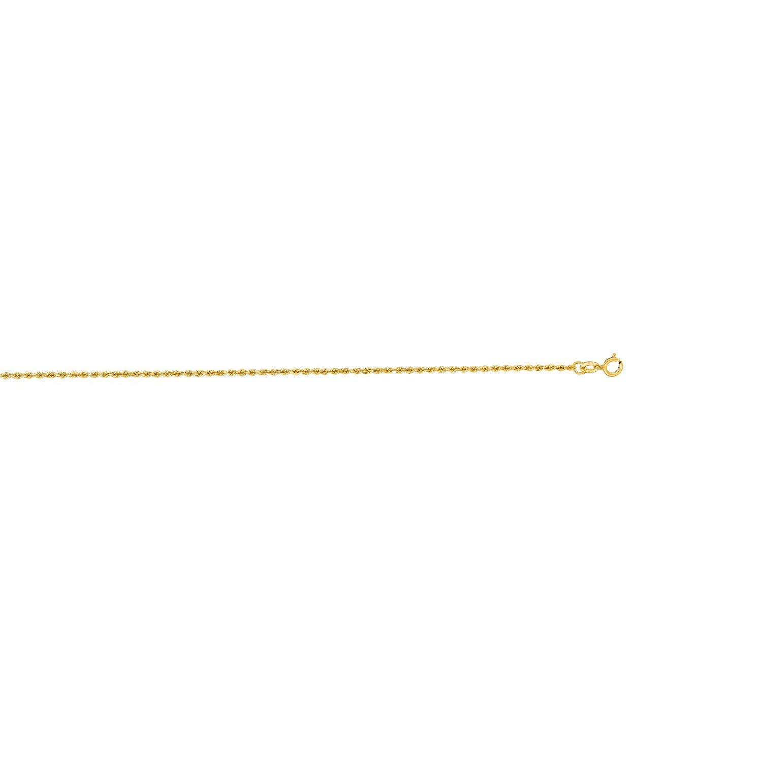 10K Yellow Gold 3.5mm Shiny Solid Diamond Cut Royal Rope Chain Bracelet with Lobster Clasp