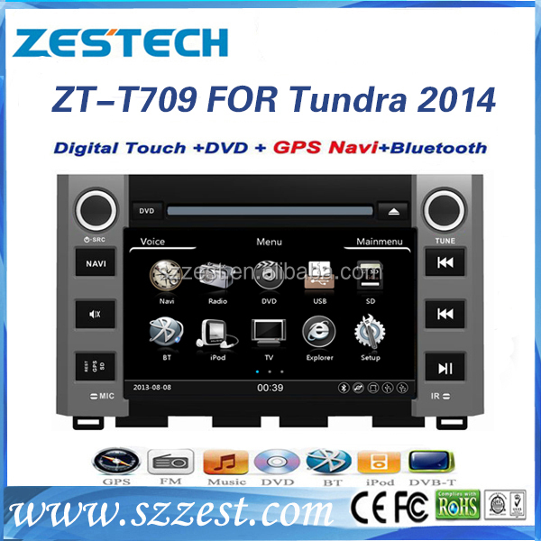 ZESTECH made in China car dvd player for Toyota Tundra 2014 Factory OEM Navigation Radio sat nav