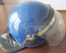 police riot control helmet with round visor