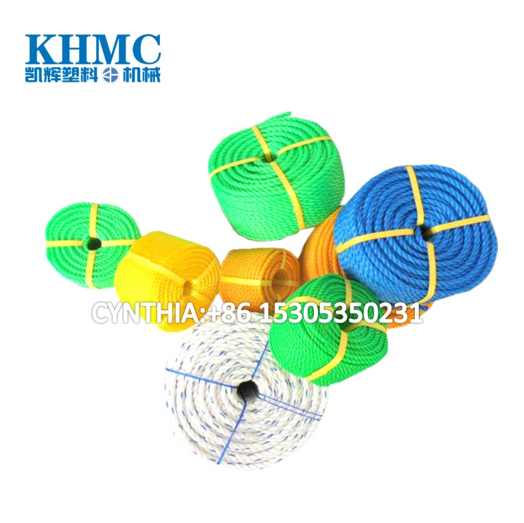 twist pp rope making machine to make 1mm-18mm fishing net pp rope
