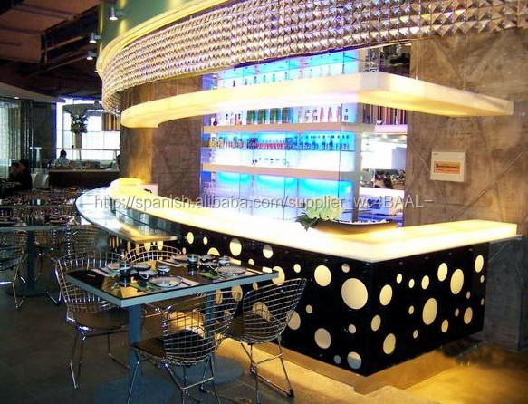 Moderno y elegante dise o bar muebles led restaurante de for Muebles bar diseno