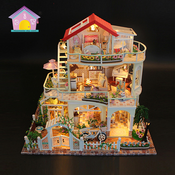 2017 adult craft gifts sets hobby craft kits wood house dollhouse villa modeling toys