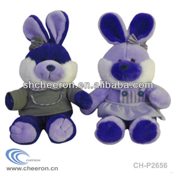 Plush couple rabbit toys/Plush bunny toys