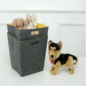foldable new customized square felt spare parts storage bin