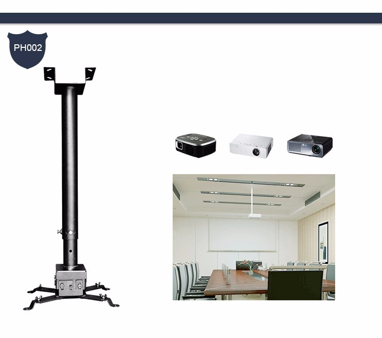 360 rotating retractable motorized dual projector mount for Motorized ceiling projector mount