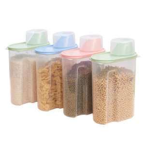 2.5L Plastic Kitchen Food Storage Tanks Kitchen Accessories Cereal Grain Bean Rice Storage Container Box