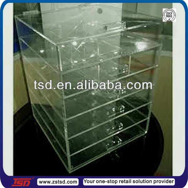 Clear Acrylic Cosmetic & Makeup Organizer Drawer, Clear Acrylic ...