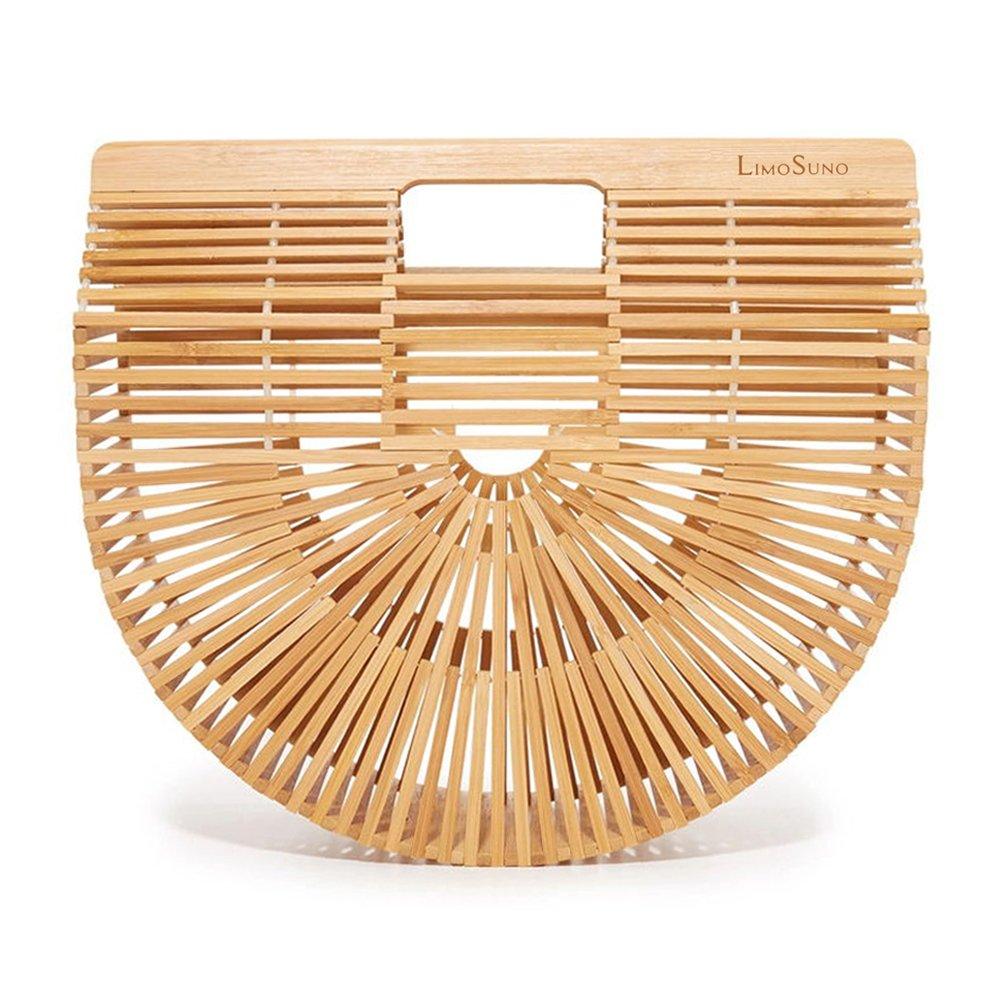 Big Ownstyle Natural Bamboo D Ring Shaped handles,diy women bags bolso classical bamboo handle wholesale Nature Color Bamboo Bag Handle DIY Handbag Accessories Purse Frame
