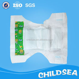 White PE back sheet dry soft baby diapers for Africa market