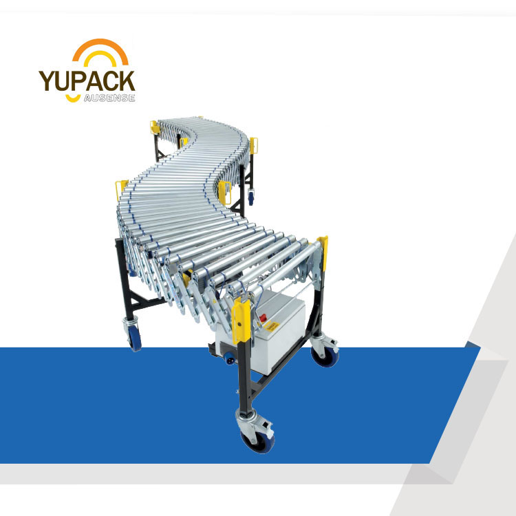 retractable conveyor roller assembly line