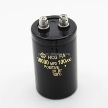 Electrolytic Capacitor 100V 10000uF Screw Terminal,100V 10000MFD Aluminum Electrolytic Capacitor